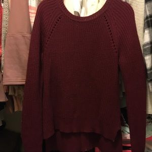 Size small maroon zip back sweater